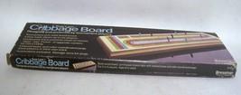 Vintage 1983 Cribbage Board - Pressman Sure-Lane Solid Wood Model 1011 - $19.57