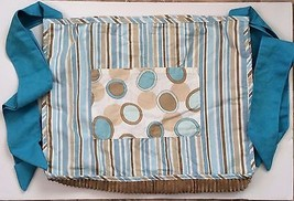 Banana Fish Baby Nursery Toy Bag Blue Brown Beige Stripe Dots Orbs Cheni... - $24.74