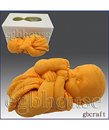 2 1/2D Silicone Guest/embed Soap/Candle Mold - Baby Sucking on its Toes - $18.00