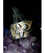 Lucky 4 Leaf Clover Good Luck Money Ring! Powerful Ancient Wealth Magick haunted - $249.99