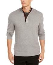 Tasso Elba Men's Long Sleeve Supima Cotton Textured 1/4-Zip Sweater (Gra... - $4.05