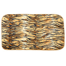 "Bath Mat 20"" x 31.5"" Faux Fur Tiger Print Cushioned - $16.49"