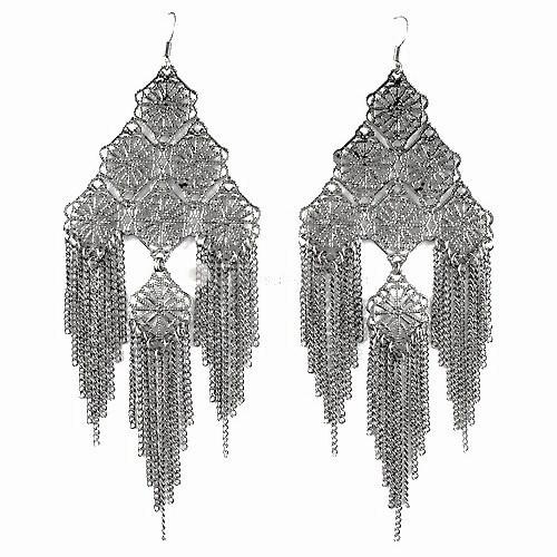 Ea61 filigree chain cascade 2x4.5 earrings