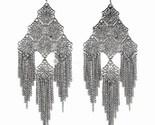 Ea61 filigree chain cascade 2x4.5 earrings thumb155 crop