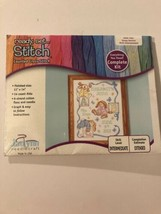 Janlynn Cross Stitch Kit Sleepy Bunnies Birth Announcement - $12.86