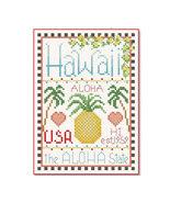 Hawaii Little State Sampler cross stitch chart Alma Lynne Originals - $6.50