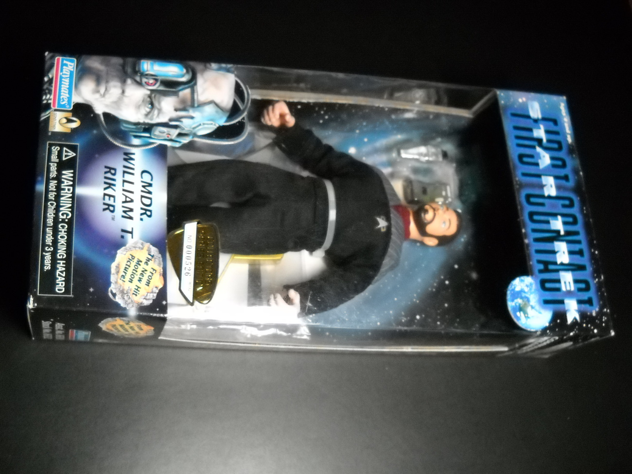 Toy star trek playmates star trek first contact commander william t riker 1996 9 inch boxed sealed 01