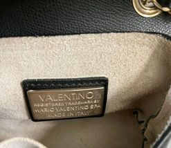 Valentino Black Leather Gold Stud Rockstud Small Glam Lock Crossbody Bag Purse image 6