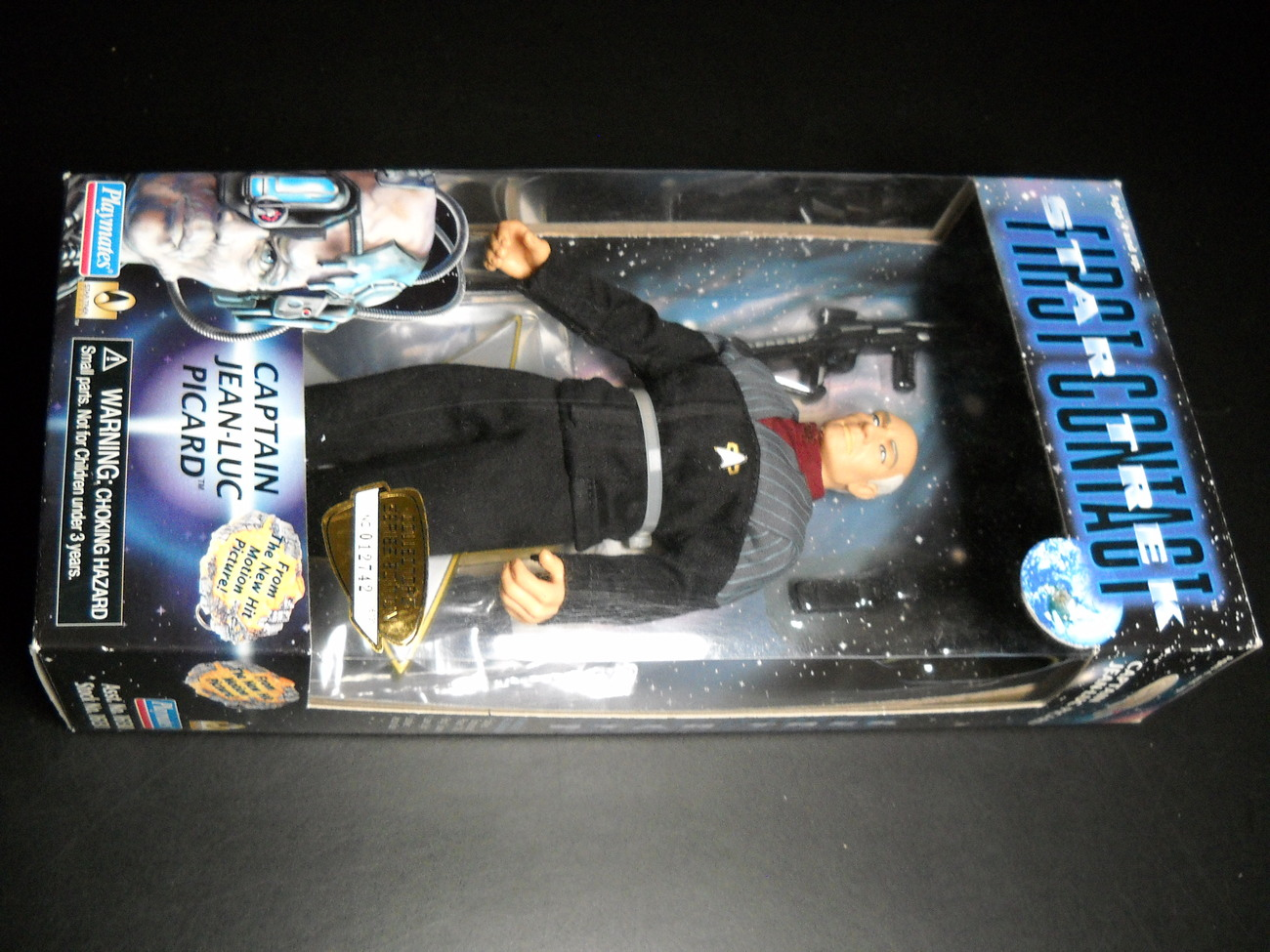 Toy star trek playmates star trek first contact captain jean luc picard 1996 9 inch boxed sealed 01