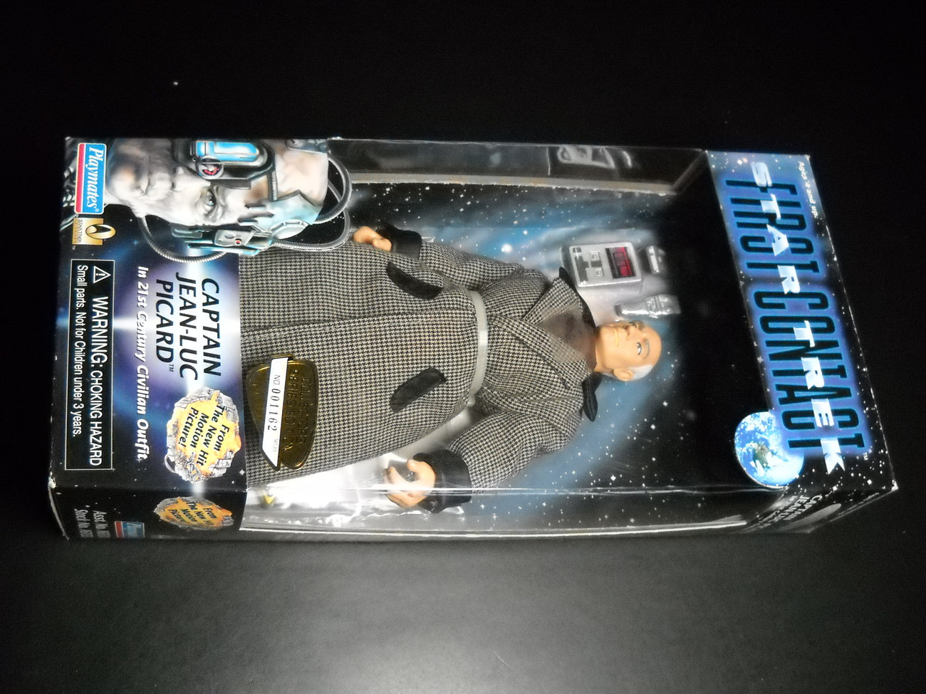 Toy star trek playmates star trek first contact captain jean luc picard in 21st century civilian outfit 1996 9 inch boxed sealed 01
