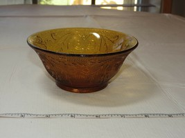 "Amber Glass Tiara Indiana glass Depression glass soup salad Bowl 5 1/2"" - $16.03"