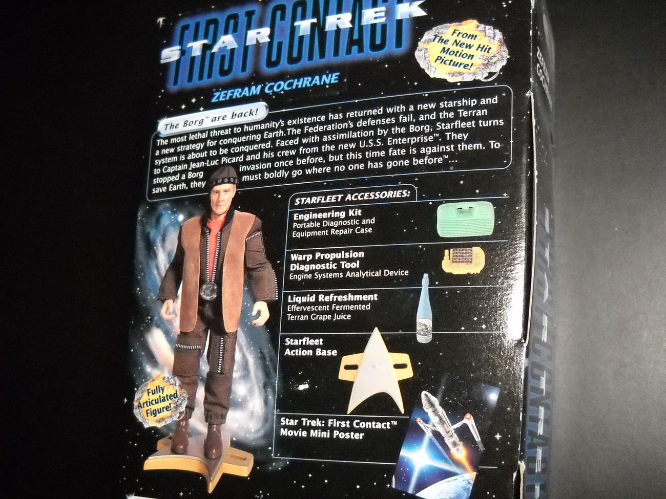 Star Trek First Contact Movie Zefram Cochrane 9 Inch Sealed in Box Playmates