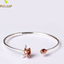 Flyleaf 925 Sterling Silver Rose Flowers Bracelets and Bangles For Women... - $94.74+