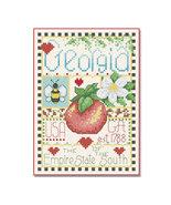 Georgia Little State Sampler cross stitch chart Alma Lynne Originals - $6.50
