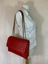 NWT Tory Burch Red Apple Kira Chevron Convertible Shoulder Bag - $528 - $512.82