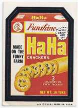 1973/4/ 5th S TOPPS WACKY PACKAGE STICKER HAHA CRACKERS - $1.95