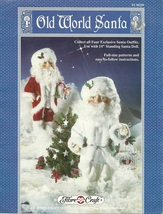 "Fibre Craft Old World Santa Outfit Full Size Patterns Use With 14"" Santa 1991  - $12.95"