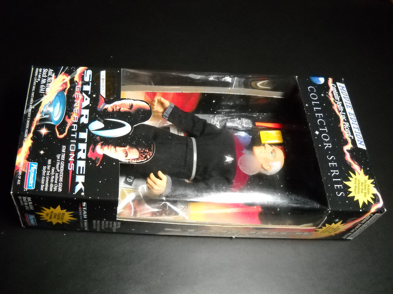 Toy star trek playmates star trek generations movie edition captain jean luc picard 1994 9 inch boxed sealed 01