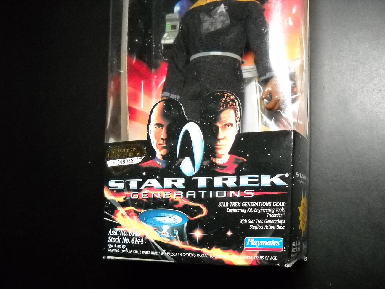 Star Trek Collector Generations Movie Edition Lt Cmdr Geordi LaForge Sealed Box