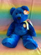 "Vintage 1999 Ty Original Beanie Buddy Clubby Club Bear Retired w/ Tags 14"" - $9.85"