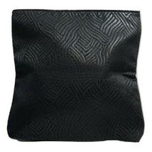 Estee Lauder Slim Line Fold Over Textured Clutch Makeup Bag, Black - $6.79