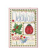 Delaware Little State Sampler cross stitch chart Alma Lynne Originals - $6.50