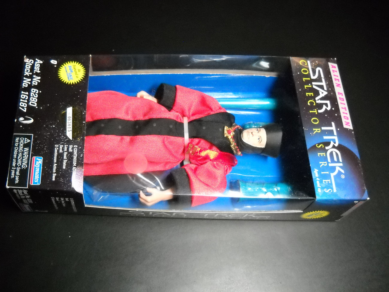 Toy star trek playmates alien edition captain q in judges robe 1997 9 inch boxed sealed 02