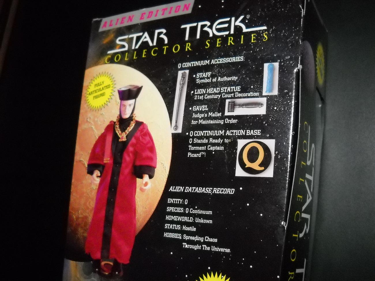Star Trek Collector Series Alien Edition Q in Judge Robe 9 Inch 1997 Sealed Box