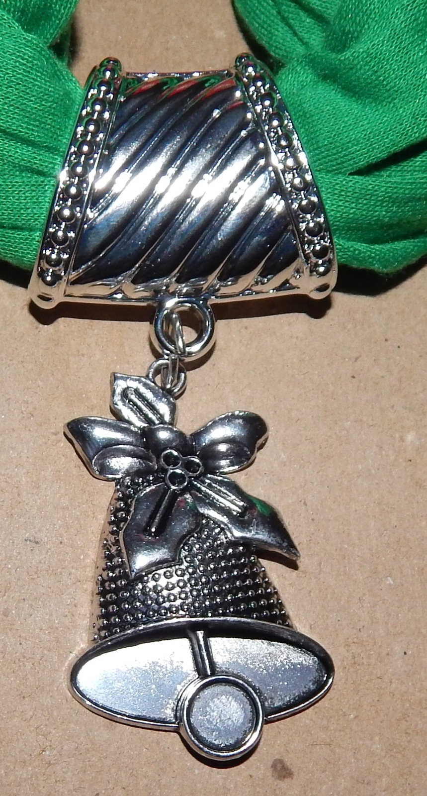 """Holiday Charm Scarf Green Open Kind 66"""" Long Be Jolly Different Charms 150Y"""