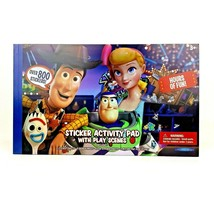 Disney Pixar Toy Story 4 800 Sticker Activity Pad Play Scenes Age 3+ Woo... - $11.99