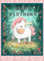 Unicorns   Happy Birthday    2.5 x 3.5 Fridge Magnet - $3.99
