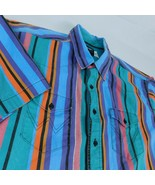 Wrangler S/S Green Purple Blue Red Striped Western Shirt Sz 20 Tall Irre... - £21.80 GBP