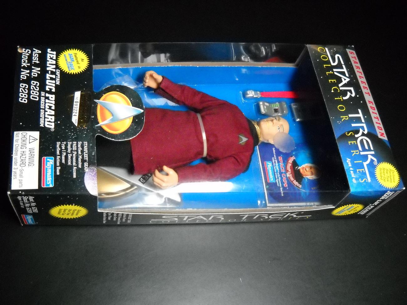 Toy star trek playmates starfleet edition captain jean luc picard in dress uniform 1995 9 inch boxed sealed 01