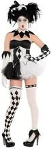 Amscan Tricksterina Giullare Clown Tutu Adulto Donna Halloween Costume 8... - $71.38