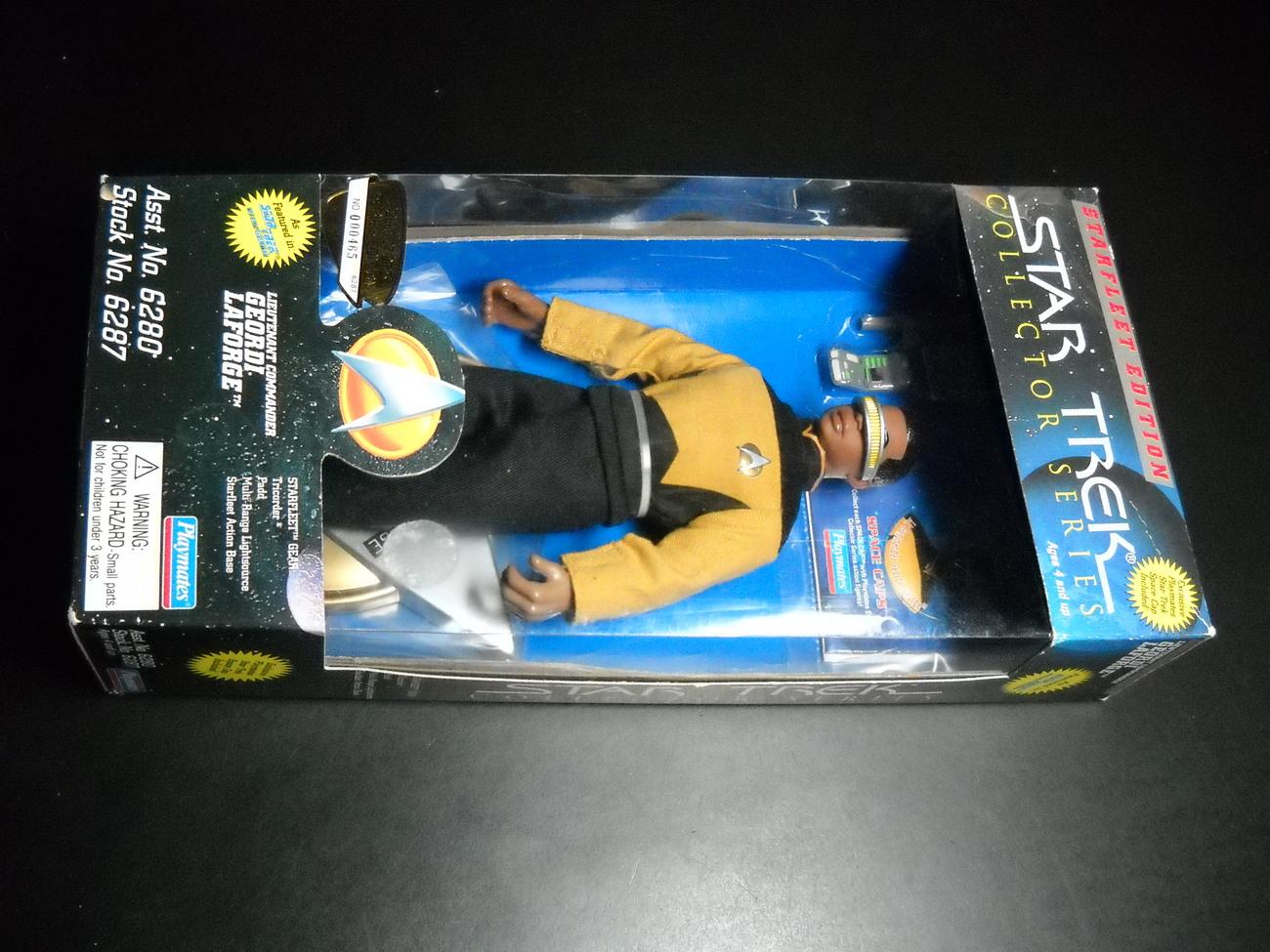 Toy star trek playmates starfleet edition lieutenant commander geordi laforge 1995 9 inch boxed sealed 01