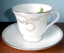 Waterford Ballet Jewels Teacup & Saucer Platinum Banded New - $29.90