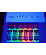 Tulip 6 Pack 1.25oz Assorted Glow in the Dark Fabric Paint Set - $12.50