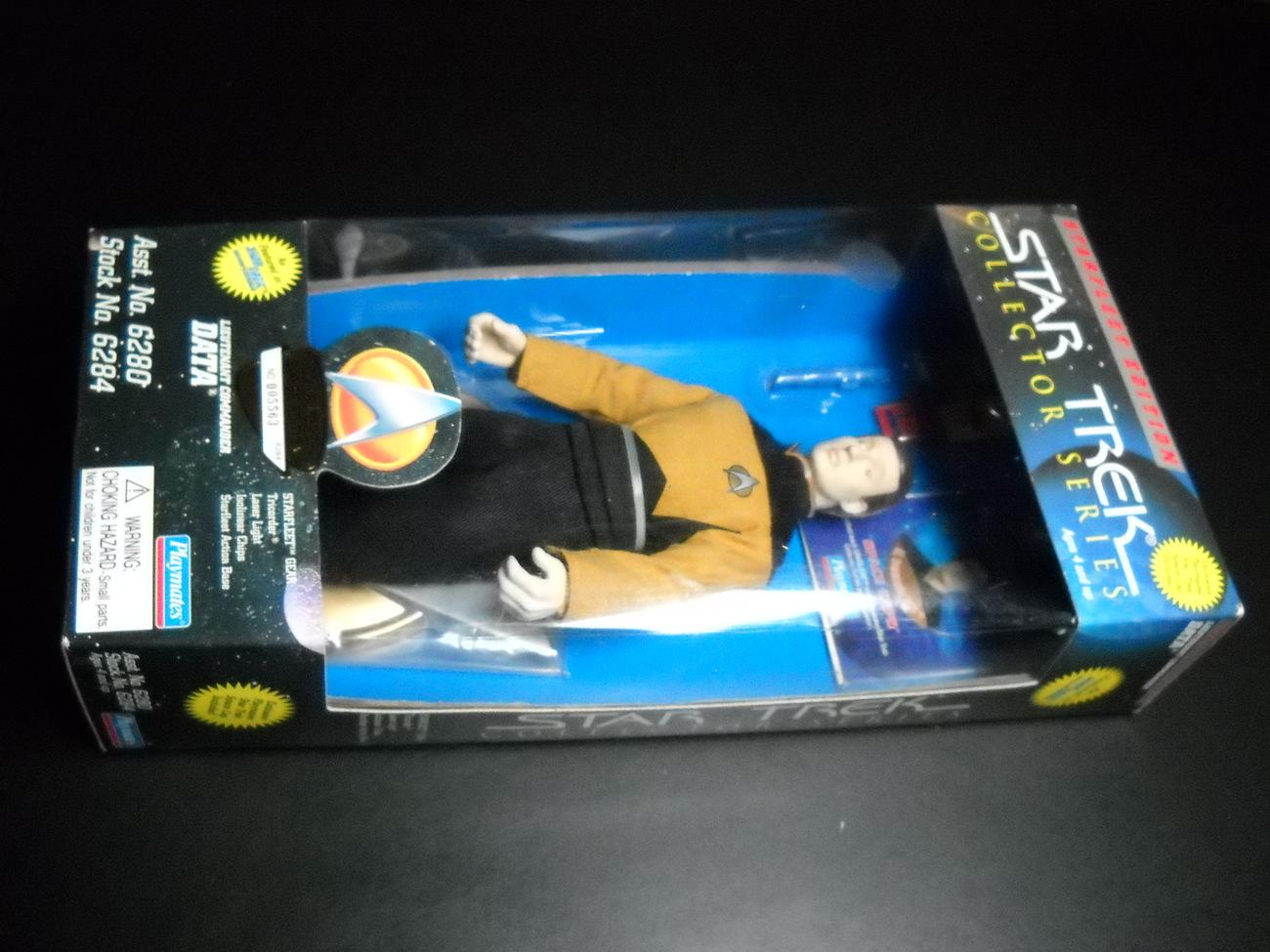 Toy star trek playmates starfleet edition lieutenant commander data 1995 9 inch boxed sealed 01