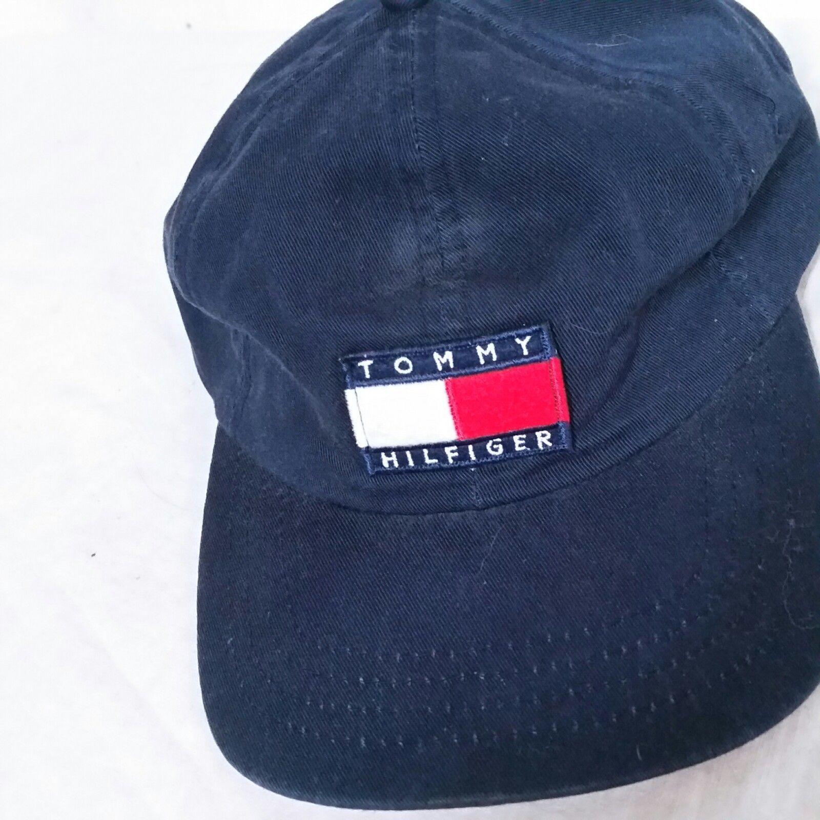 e8d1439cf6ce VTG Tommy Hilfiger Snapback Hat Flag 90s Lotus Sailing Cap Spell Out  Baseball