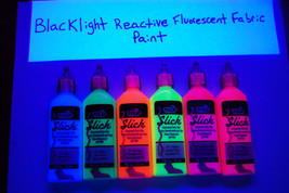 Tulip 6 Pack 1.25oz Assorted Neon Blacklight Reactive Fabric Paint Set - $12.50