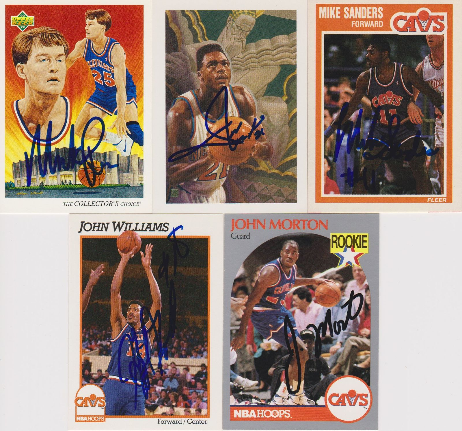 Cleveland Cavaliers Signed Lot of (5) Trading Cards - Price, Wilkins, Sanders