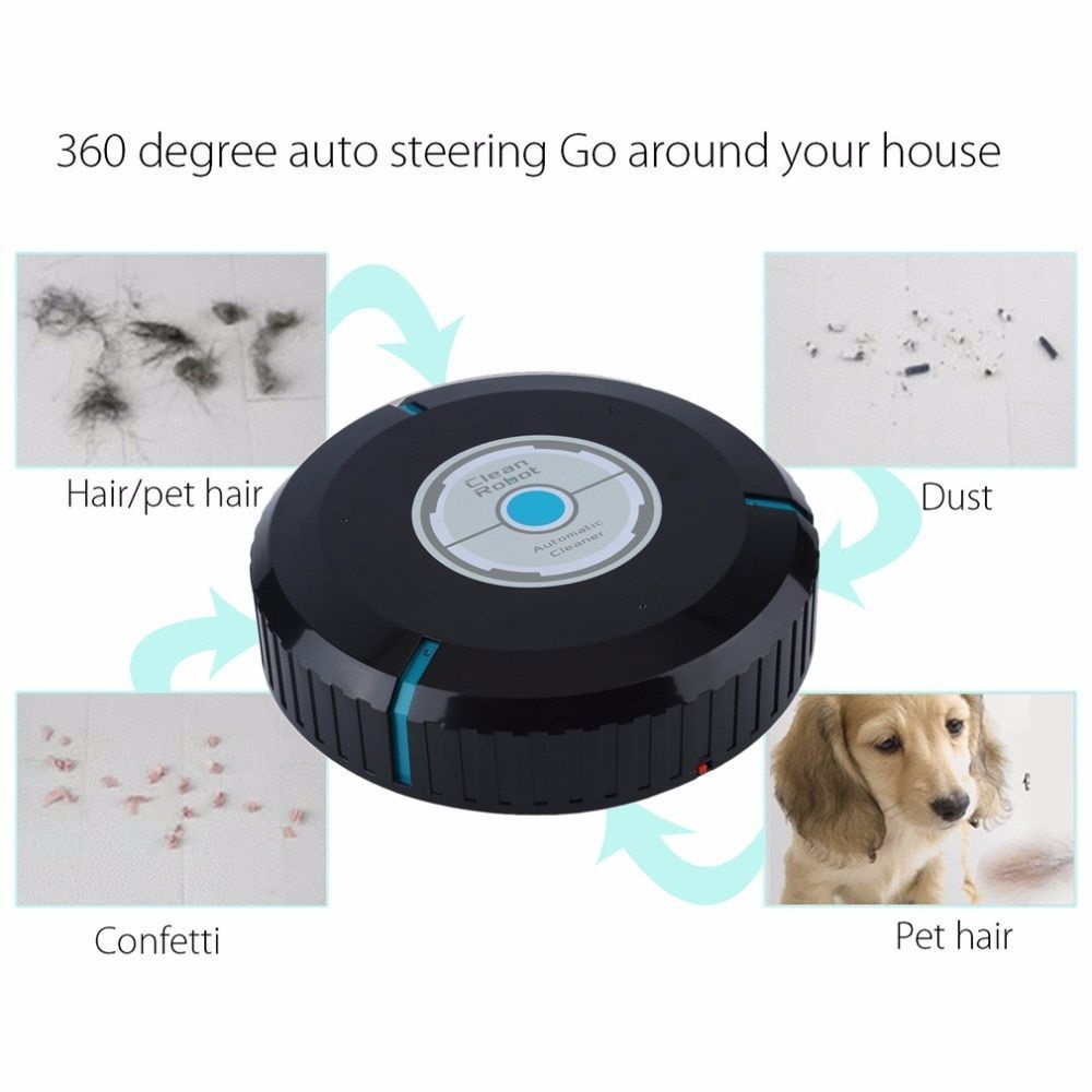 Home Auto Cleaner Robot Microfiber Smart Robotic Mop Floor Corners Dust Cleaner