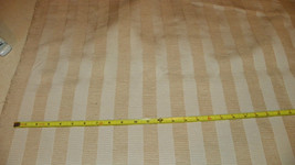 Beige Off White Stripe Print Upholstery Fabric 1 Yard  R216 - $39.95