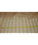 Beige Off White Stripe Print Upholstery Fabric 1 Yard  R216 - $39.95