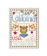 California Little State Sampler cross stitch chart Alma Lynne Originals - $6.50