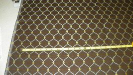 Brown Gold Ring Print Upholstery Fabric Remnant  F1048 - $29.95
