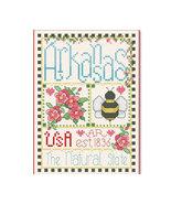 Arkansas Little State Sampler cross stitch chart Alma Lynne Originals - $6.50