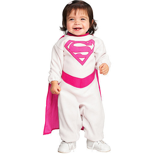 Supergirl Infant Costume 6-12 Months Pink Cape NEW