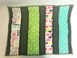 Pottery Barn PB Teen Pillow Sham Peace Love Patchwork Hearts Peace Polka Dots - $24.74
