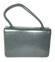 Block True Vintage Small Petite Gray Faux Leather Handbag - $23.27